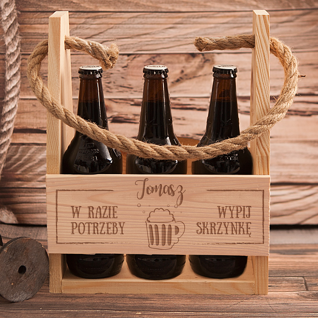 Zdjęcie w galerii - NOSIDŁO na 6 piw W razie Potrzeby z Grawerem Prezent Urodzinowy