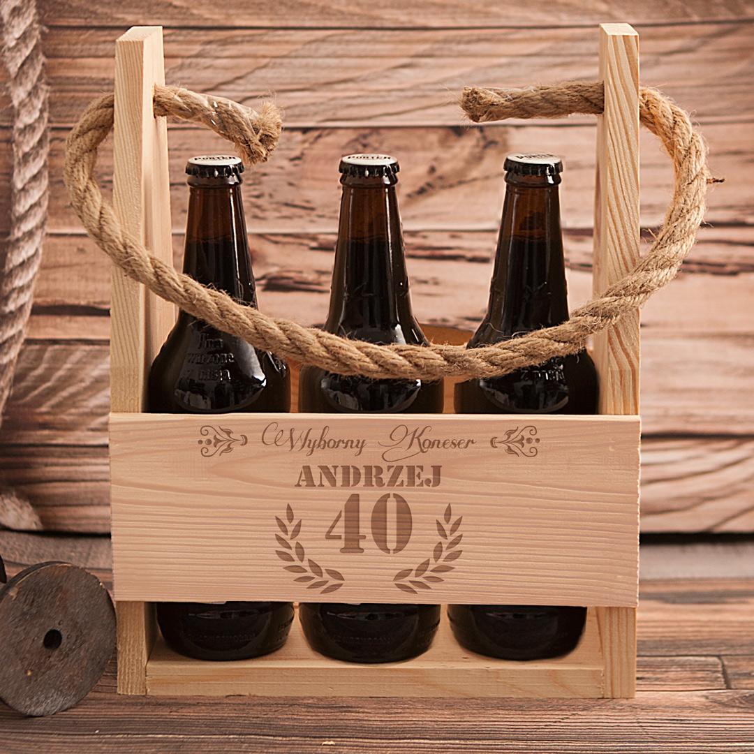 Zdjęcie w galerii - NOSIDŁO na 6 piw Wyborny Koneser Prezent na Urodziny z Grawerem