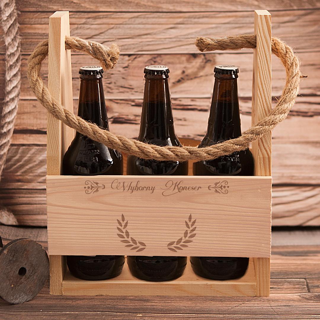 Zdjęcie slidera - NOSIDŁO na 6 piw Wyborny Koneser Prezent na Urodziny z Grawerem