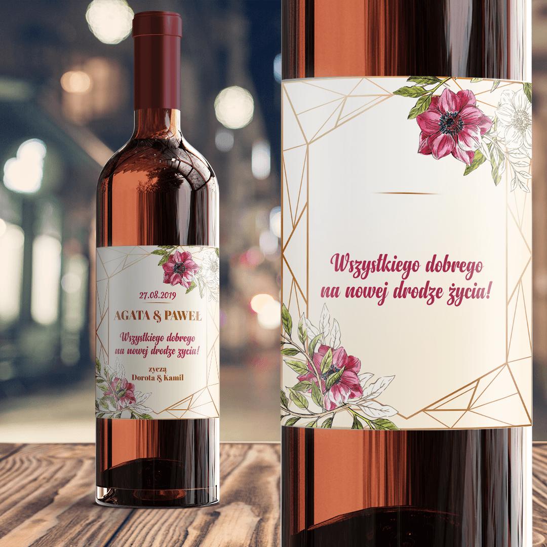 Zdjęcie slidera - ETYKIETA na wino prezent dla Pary Młodej