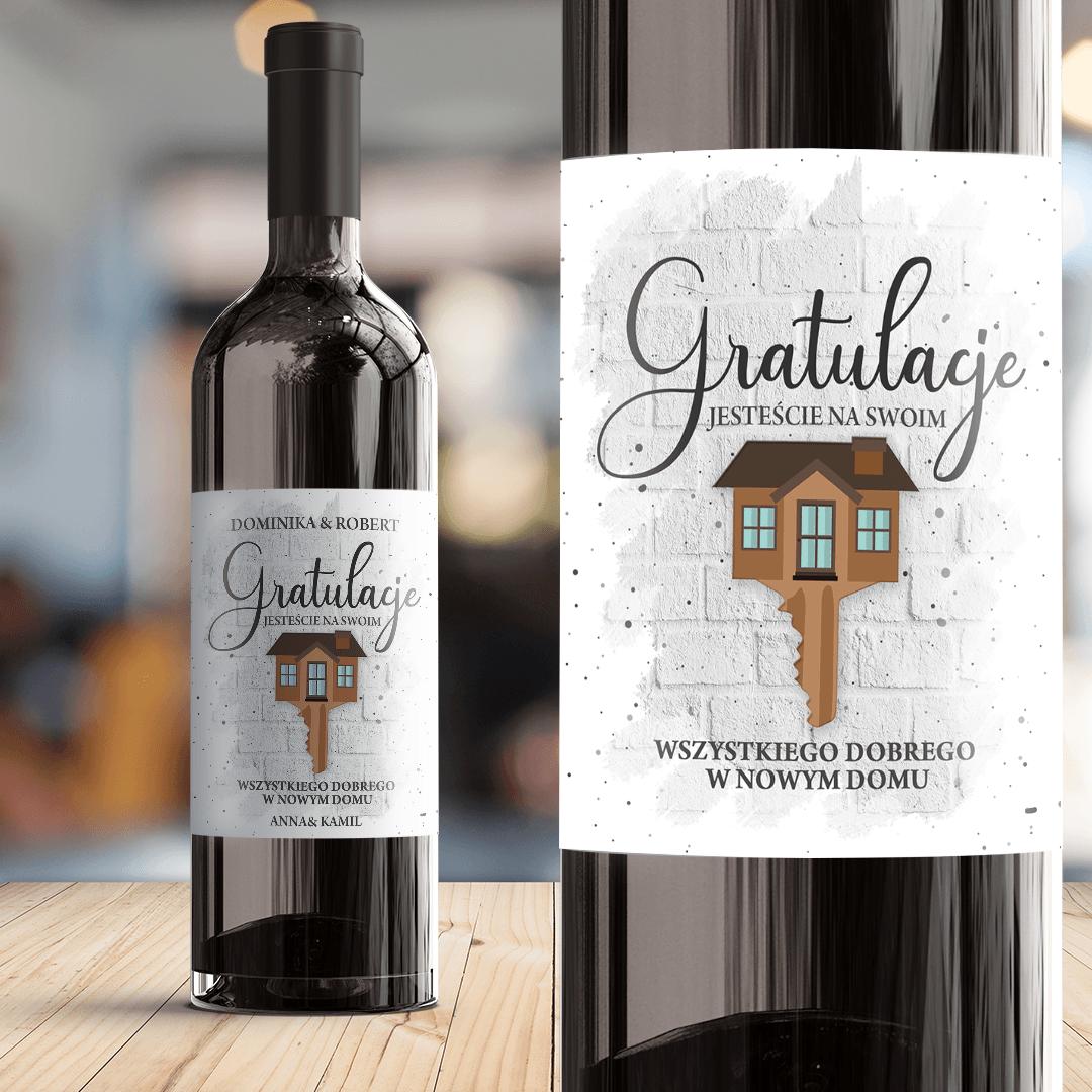 Zdjęcie slidera - ETYKIETA na wino Prezent na Parapetówkę