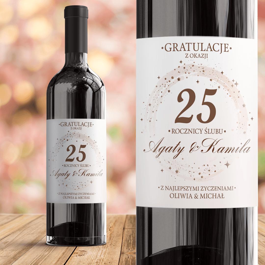 Zdjęcie w galerii - ETYKIETA na wino prezent na Rocznicę personalizowana