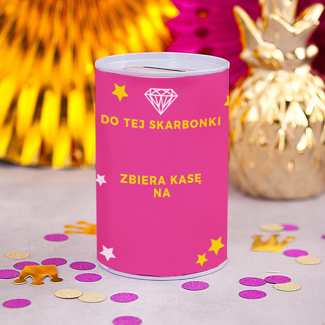 Zdjęcie slidera - SKARBONKA Różowa Puszka z Imieniem