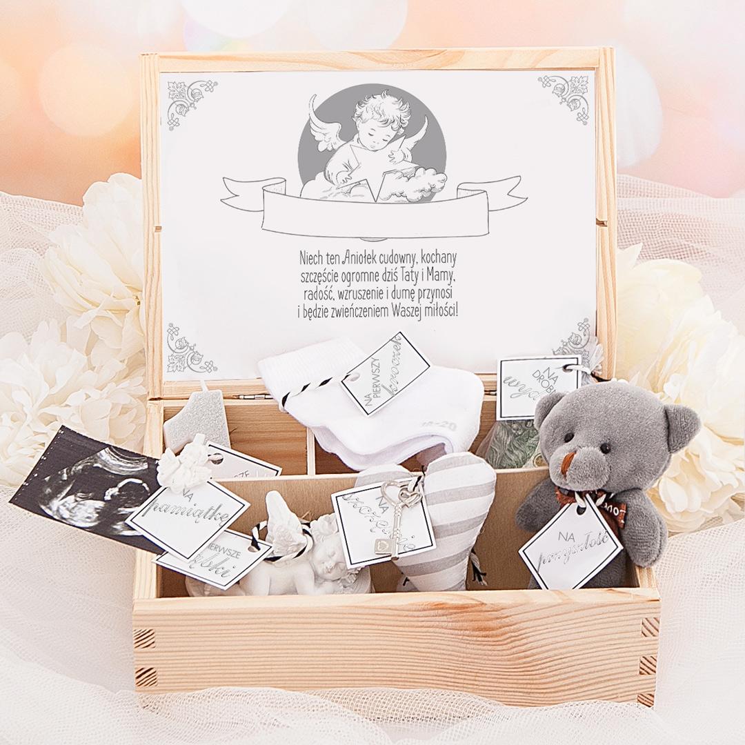 Zdjęcie slidera - ZESTAW prezent z okazji Narodzin Dziecka/Chrzest Św. Aniołek z Gwiazdą