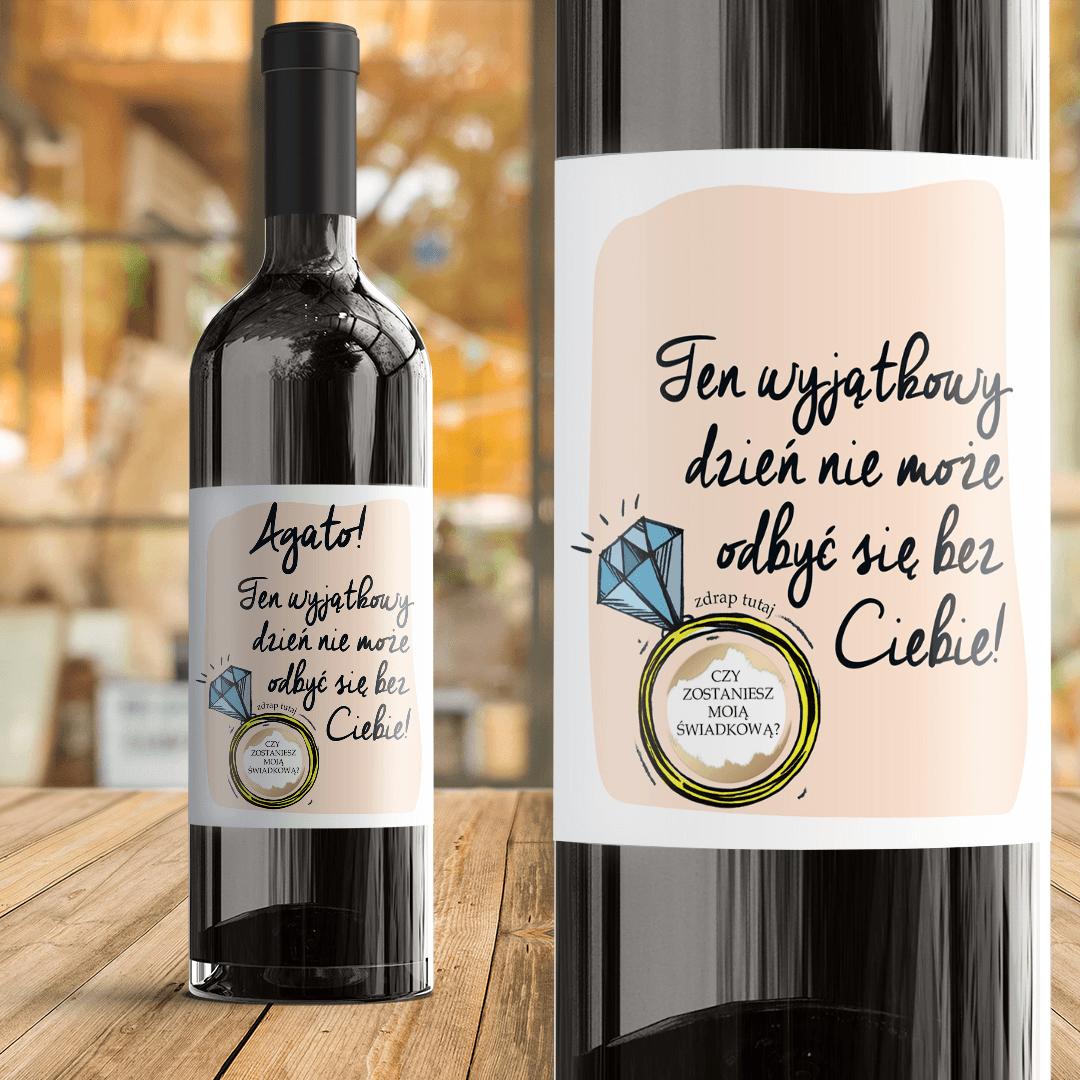 Zdjęcie slidera - ETYKIETA na wino ze zdrapką Pytanie Do Świadkowej