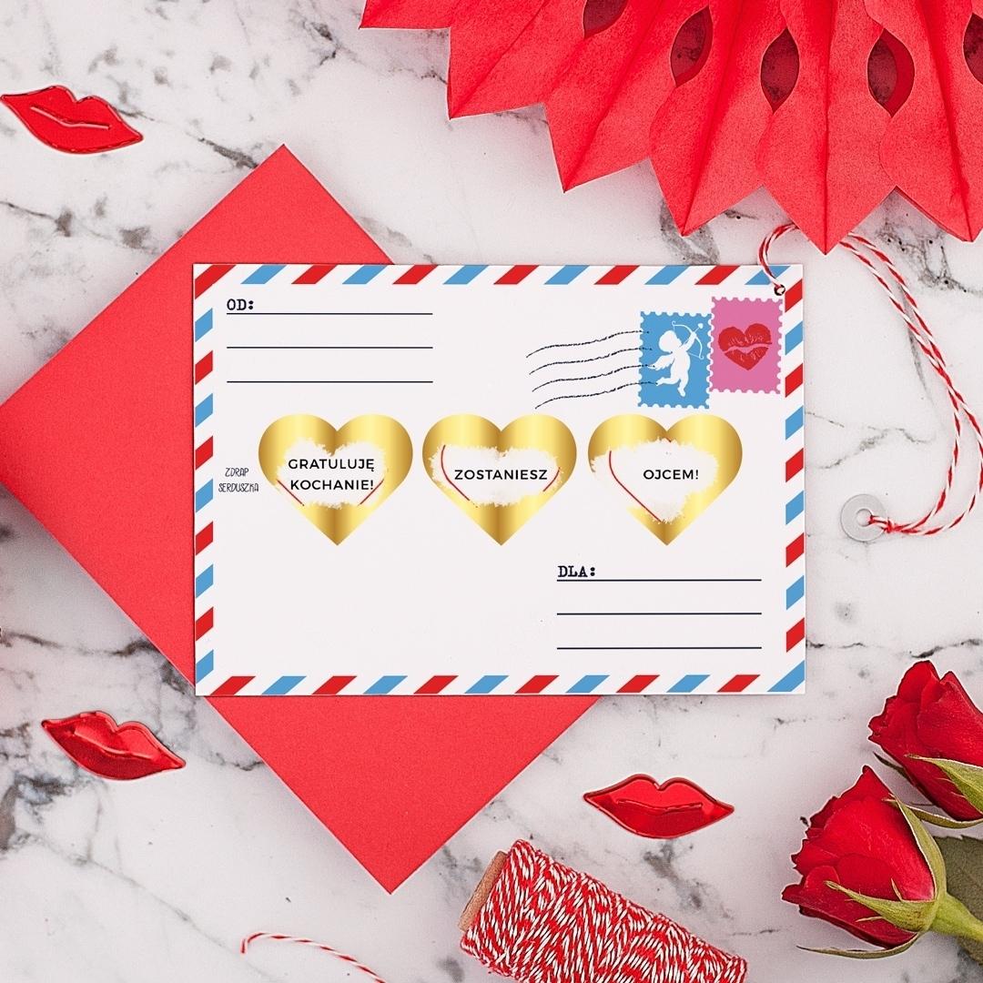 Zdjęcie slidera - ZDRAPKA Twoja Wiadomość do Ukochanego Prezent Walentynkowy