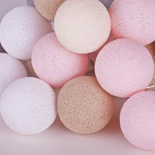 Zdjęcie w galerii - LAMPKI dekoracyjne Cotton Ball Lights 10 KUL! RÓŻNE KOLORY