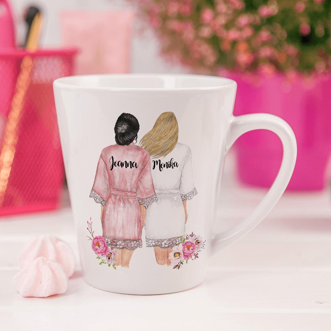 Zdjęcie w galerii - KUBEK małe latte Przyjaciółki na zawsze Wasze Imiona +wybór fryzur