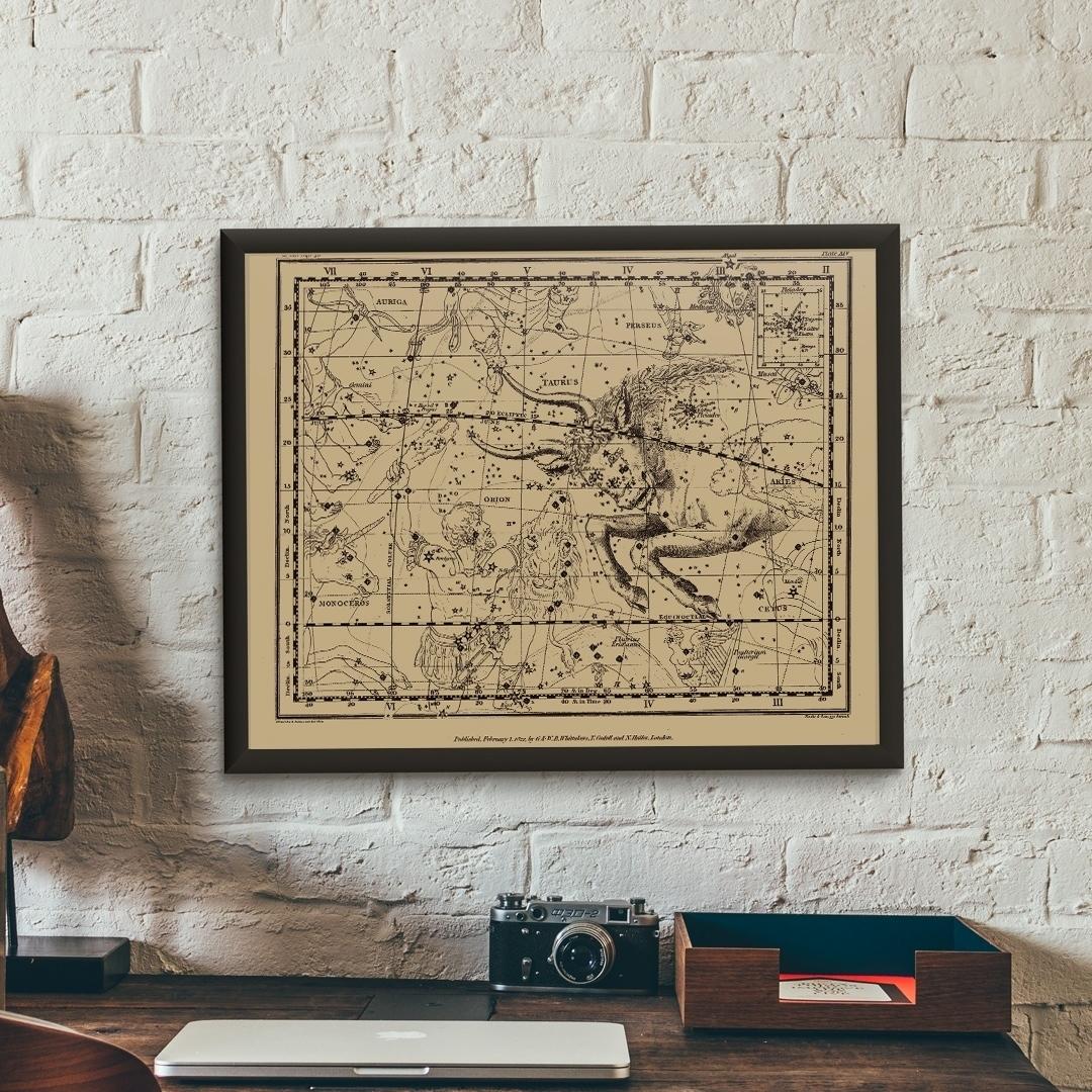 Zdjęcie w galerii - PLAKAT Znak Zodiaku Byk Konstelacja Taurus +RAMA