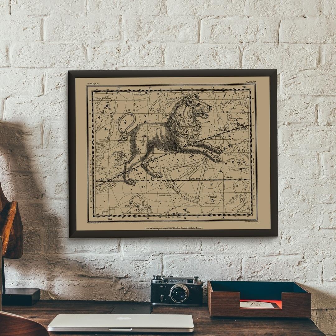 Zdjęcie w galerii - PLAKAT Znak Zodiaku Lew Konstelacja Leo +RAMA