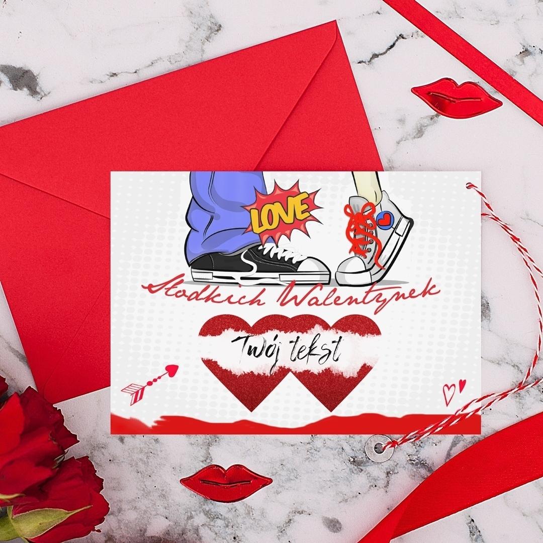 Zdjęcie w galerii - ZDRAPKA prezent na Walentynki Miłość w Trampkach