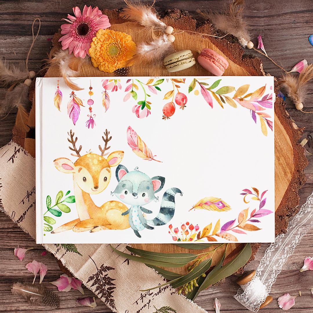 Zdjęcie slidera - ALBUM do wklejania zdjęć Woodland na Urodzinki z IMIENIEM