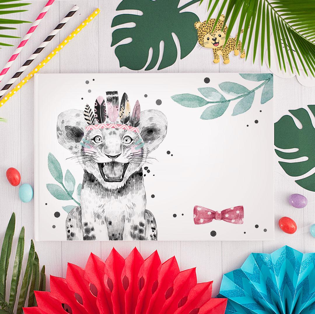 Zdjęcie slidera - ALBUM Do Wklejania Zdjęć Lwiątko Na Urodzinki z IMIENIEM +PISAK