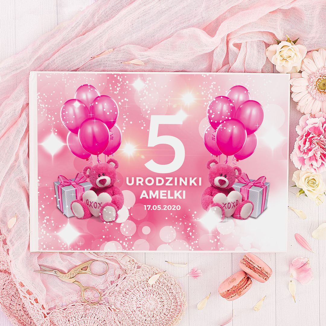 Zdjęcie w galerii - ALBUM Urodzinowy do wklejania zdjęć dla dziewczynki z IMIENIEM