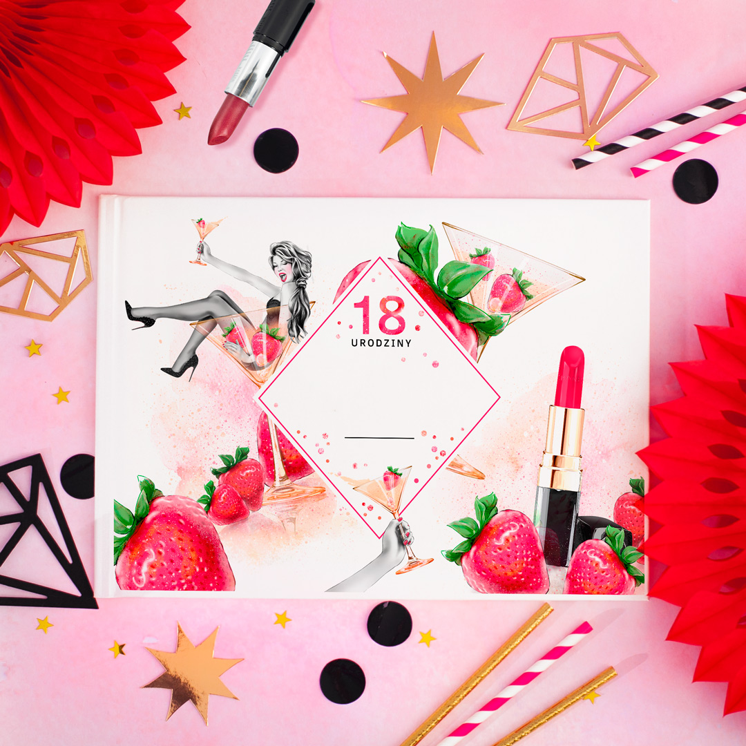Zdjęcie slidera - ALBUM do wklejania zdjęć i wpisów na 18 urodziny z IMIENIEM