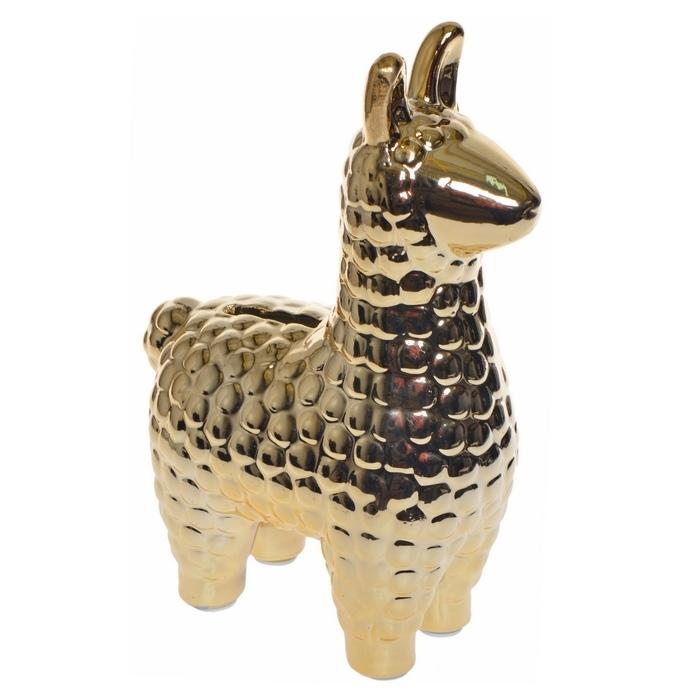 Zdjęcie slidera - SKARBONKA prezent dla dziecka Złota Alpaka