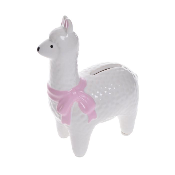 Zdjęcie w galerii - SKARBONKA prezent dla dziecka Biała Lama