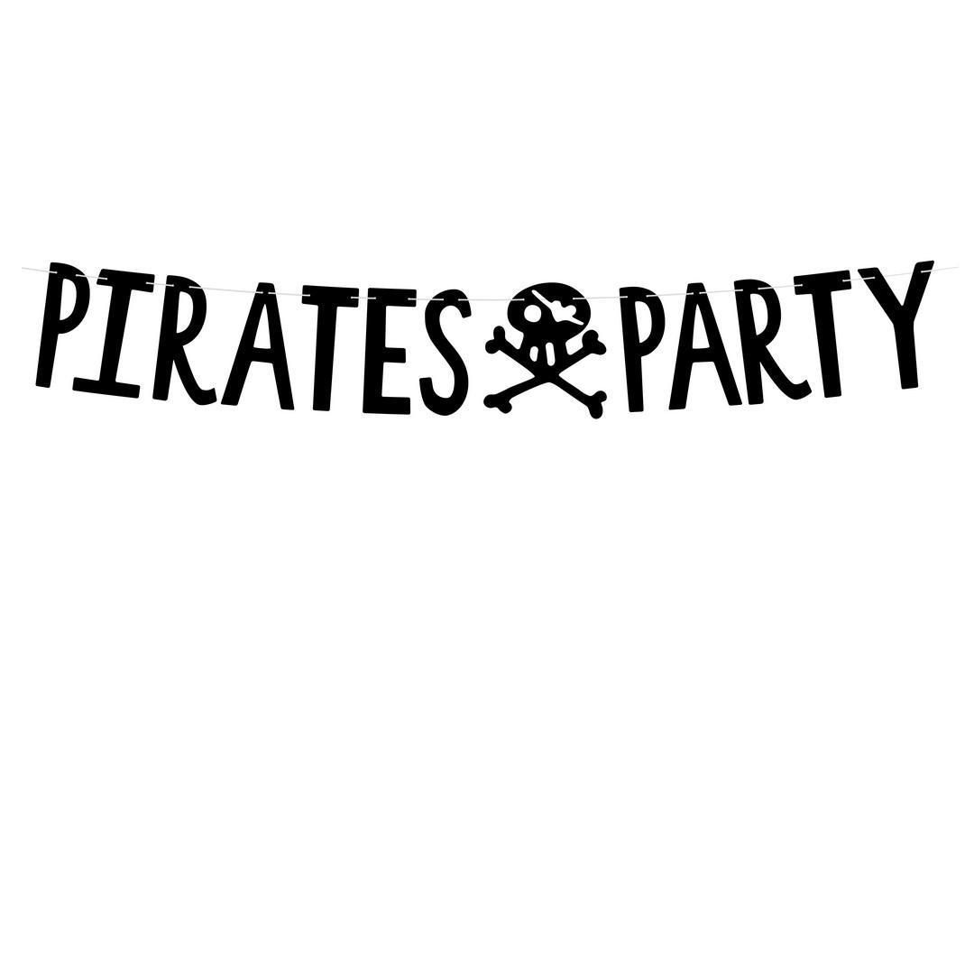 Zdjęcie w galerii - BANER dekoracyjny Pirates Party CZARNY