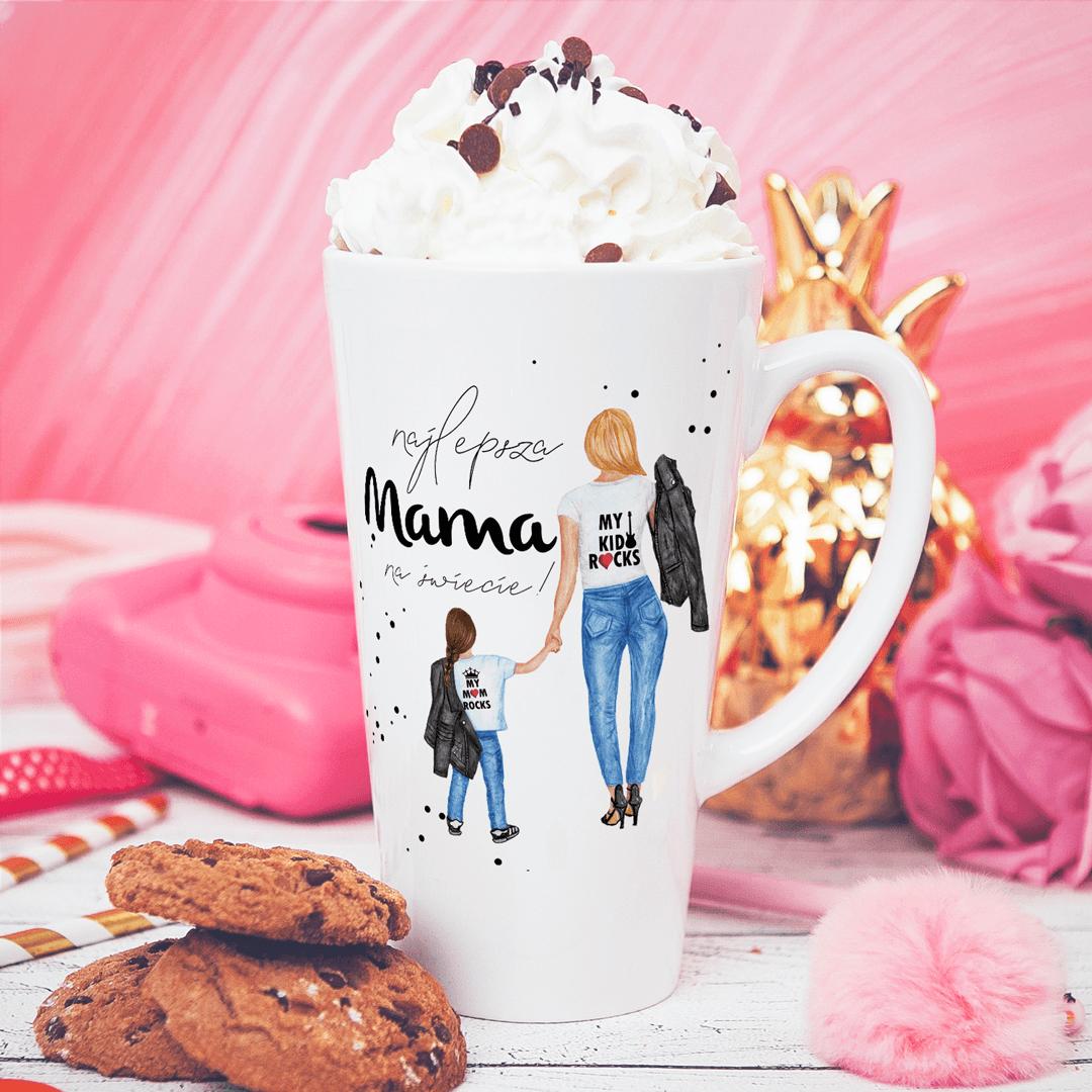 Zdjęcie slidera - KUBEK do Latte dla Mamy Wasze Podobizny Mama i dziecko