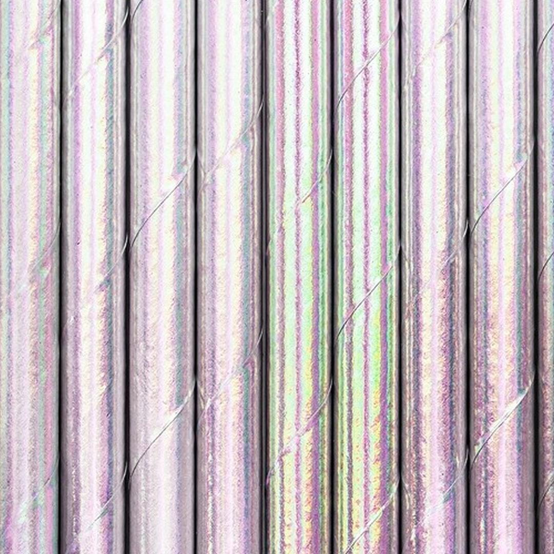 Zdjęcie slidera - SŁOMKI papierowe metalizowane HOLO 10szt