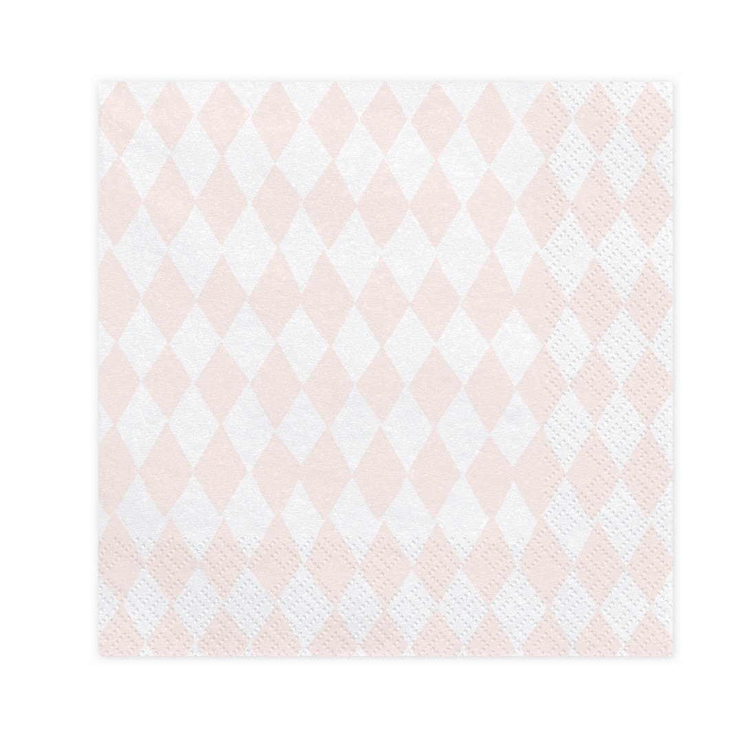 Zdjęcie w galerii - SERWETKI papierowe Jednorożec Pastelowe Romby 33x33cm 20szt