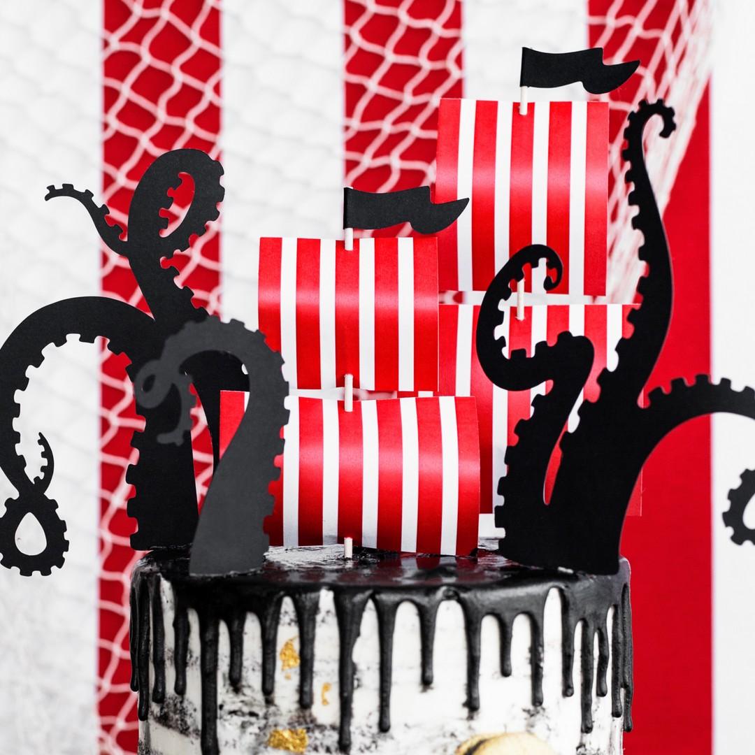 Zdjęcie w galerii - TOPPERY na tort PIRACKIE SYMBOLE 5szt