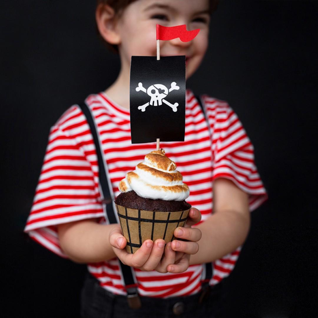 Zdjęcie slidera - ZESTAW do muffinek Piracka Bandana 6szt