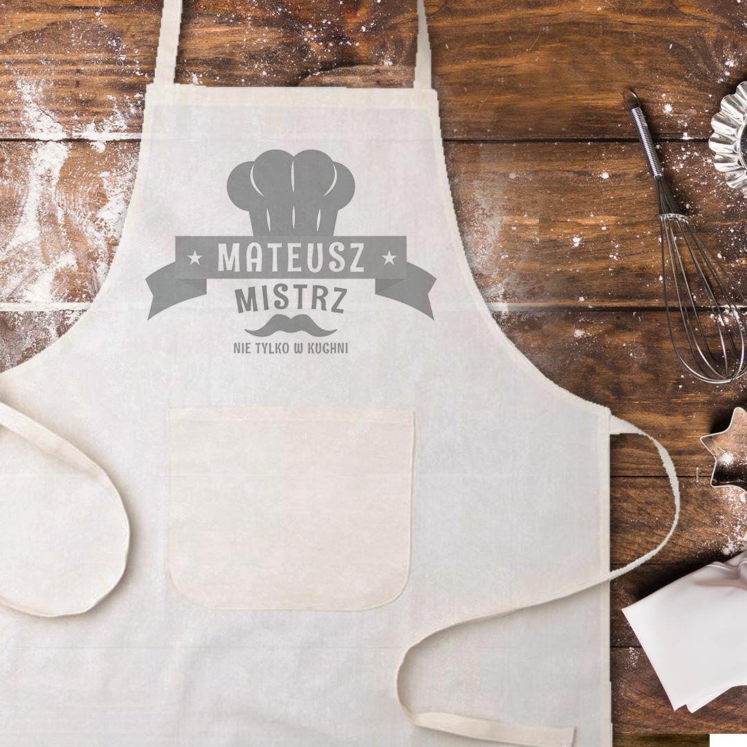 Zdjęcie w galerii - FARTUCH kucharski Mistrz nie tylko w kuchni… PERSONALIZOWANY