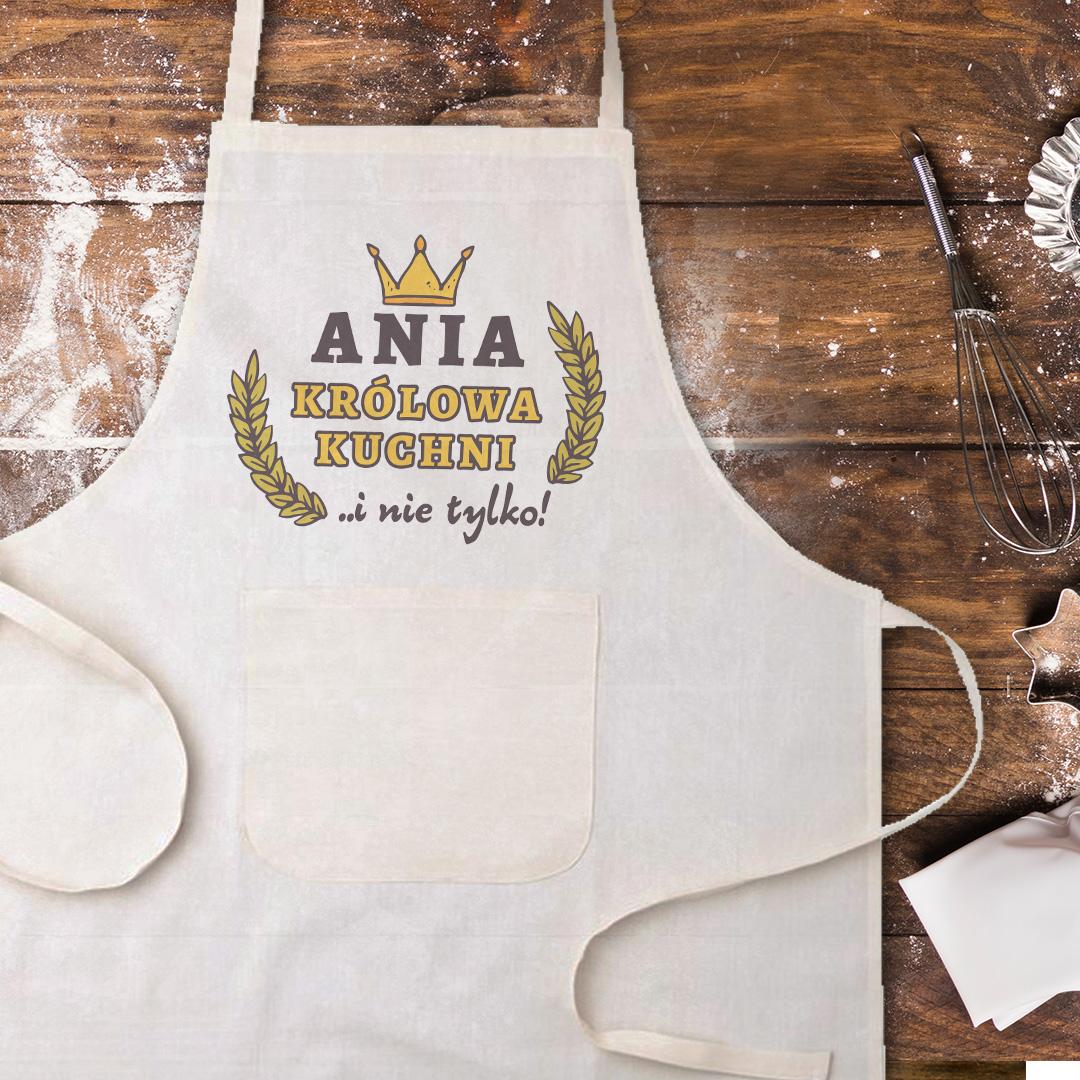 Zdjęcie w galerii - FARTUCH kucharski Królowa Kuchni na prezent PERSONALIZOWANY