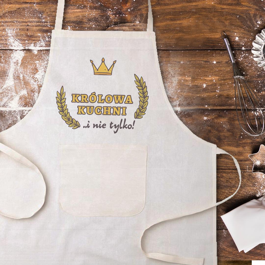 Zdjęcie slidera - FARTUCH kucharski Królowa Kuchni na prezent PERSONALIZOWANY