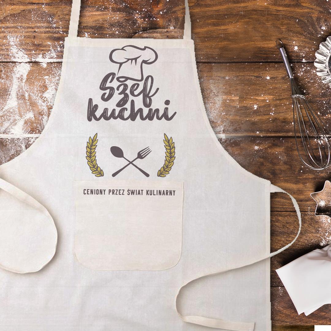 Zdjęcie slidera - FARTUCH kucharski Ceniony Szef Kuchni prezent PERSONALIZOWANY