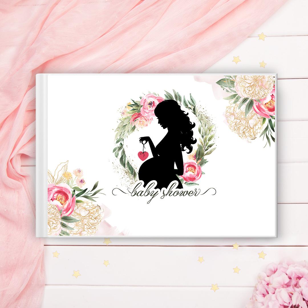 Zdjęcie slidera - KSIĘGA pamiątkowa Baby Shower Prezent dla Przyszłej Mamy PERSONALIZOWNA