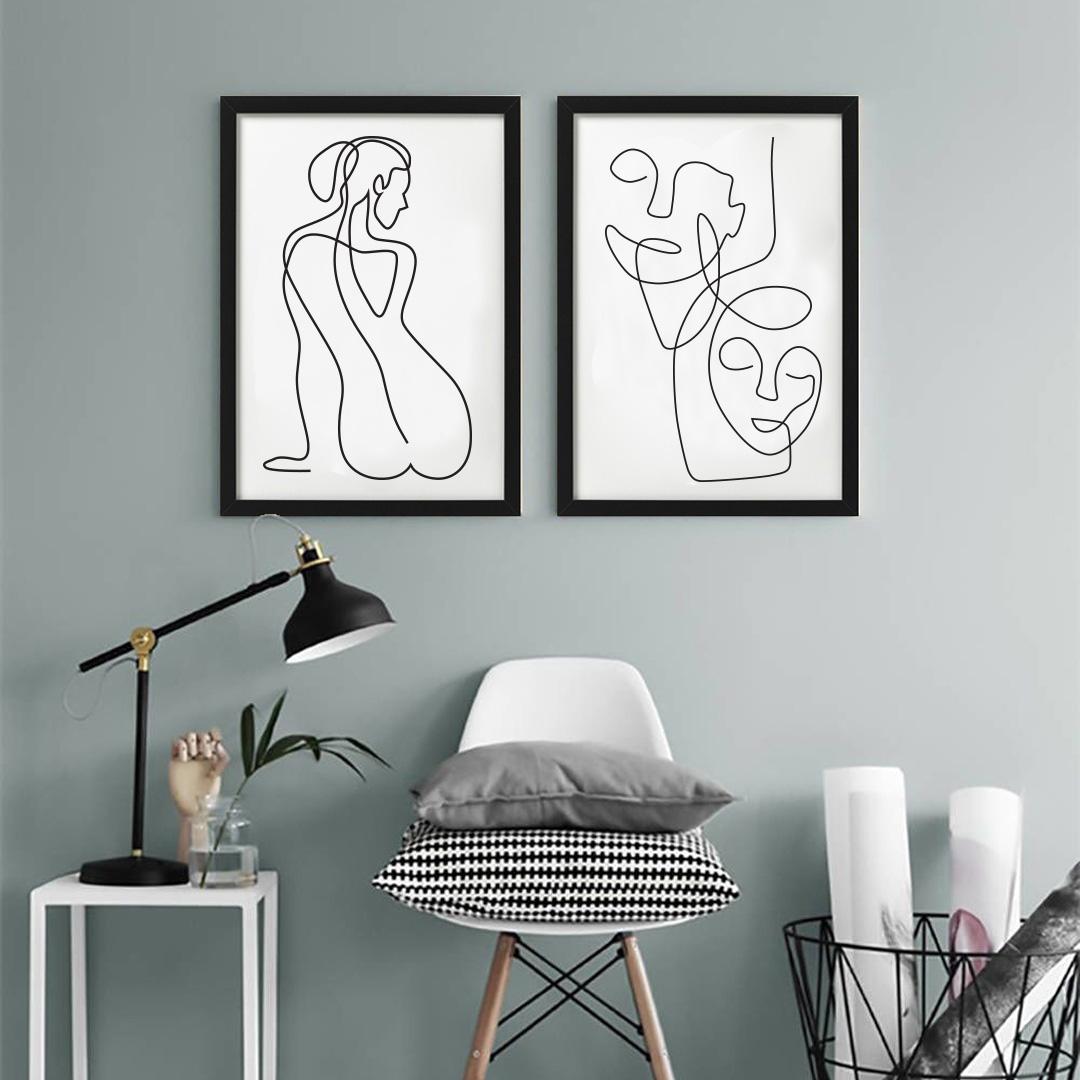 Zdjęcie w galerii - PLAKATY Kobieta Zestaw +RAMY
