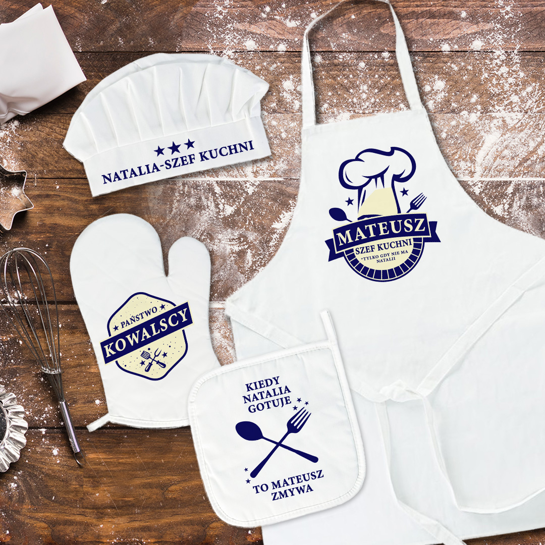 Zdjęcie slidera - PREZENT DLA PARY MŁODEJ zestaw kucharski z personalizacją