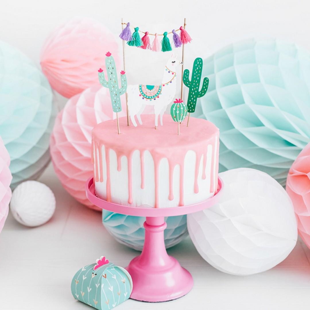 Zdjęcie slidera - TOPPERY na tort Lama Party 5szt