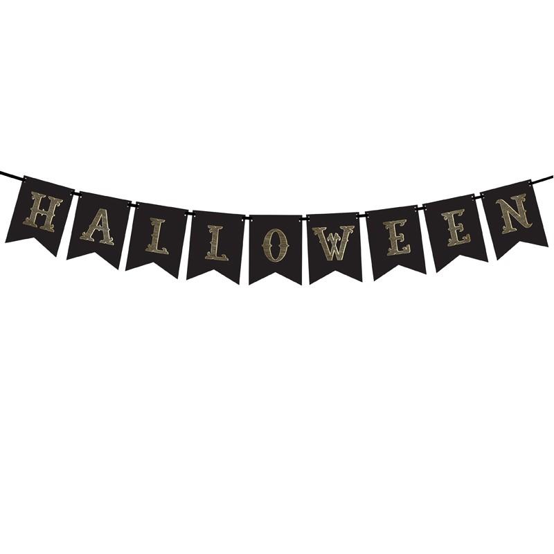 Zdjęcie slidera - BANER dekoracyjny HALLOWEEN czarno-złoty
