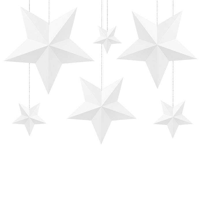 Zdjęcie slidera - Dekoracja świąteczna Gwiazdy, BIAŁY