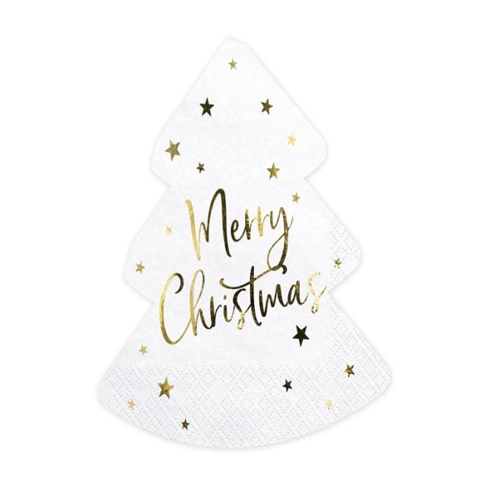 Zdjęcie w galerii - Serwetki Choinka – Merry Christmas, 16×16,5cm