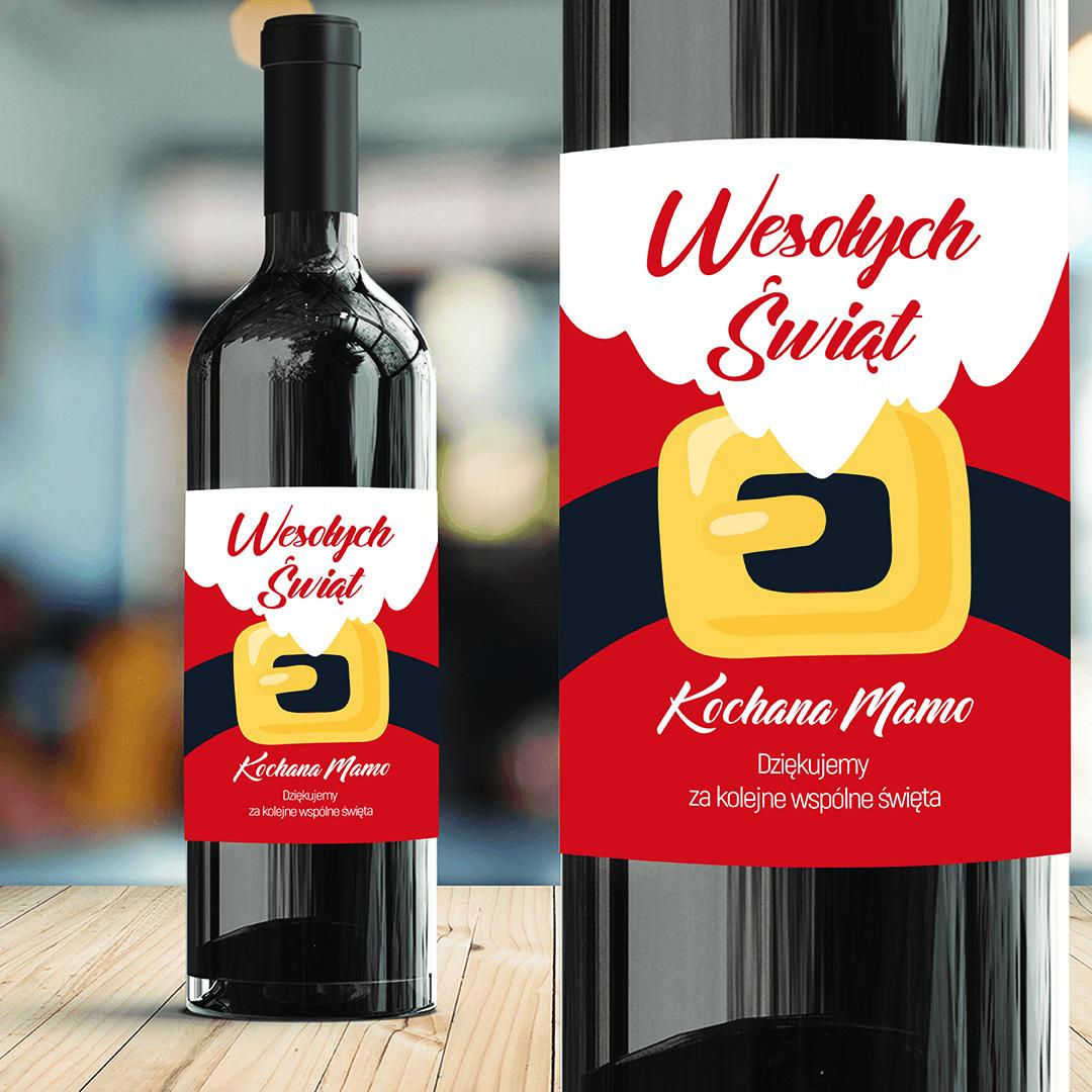 Zdjęcie w galerii - ETYKIETA na Wino HoHoHo Prezent na Mikołajki/Święta PERSONALIZOWANA