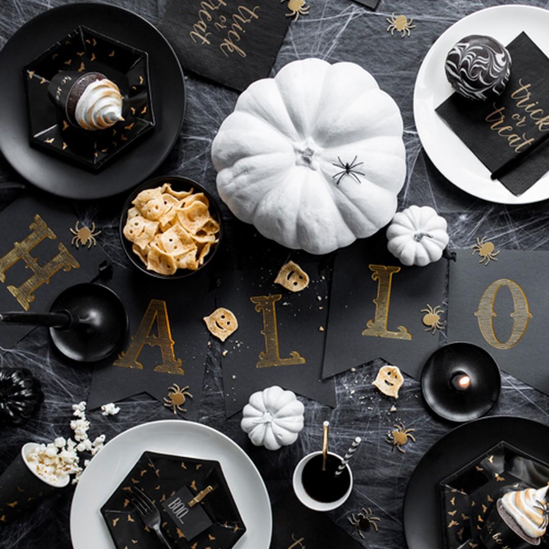 Zdjęcie w galerii - BANER dekoracyjny HALLOWEEN czarno-złoty