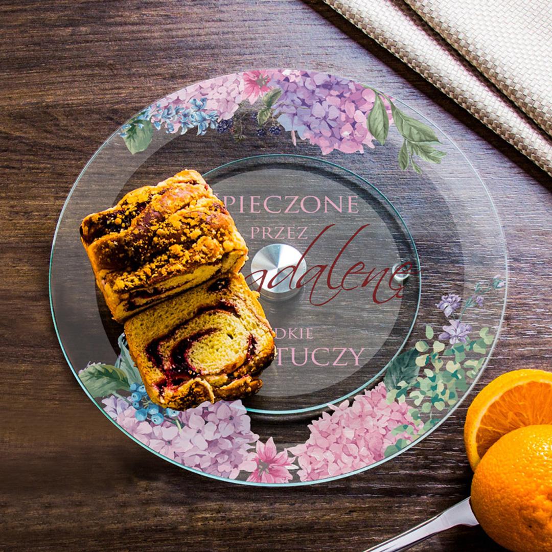Zdjęcie w galerii - PATERA na ciasto obracana PERSONALIZOWANA idealny prezent