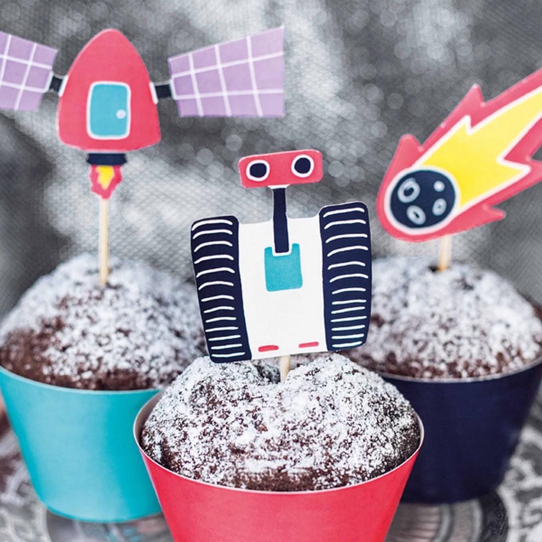 Zdjęcie slidera - ZESTAW do dekoracji muffinek Kosmos 6szt