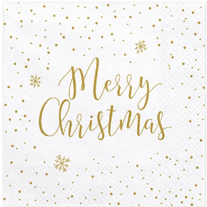 Zdjęcie slidera - Serwetki Merry Christmas, 33x33cm