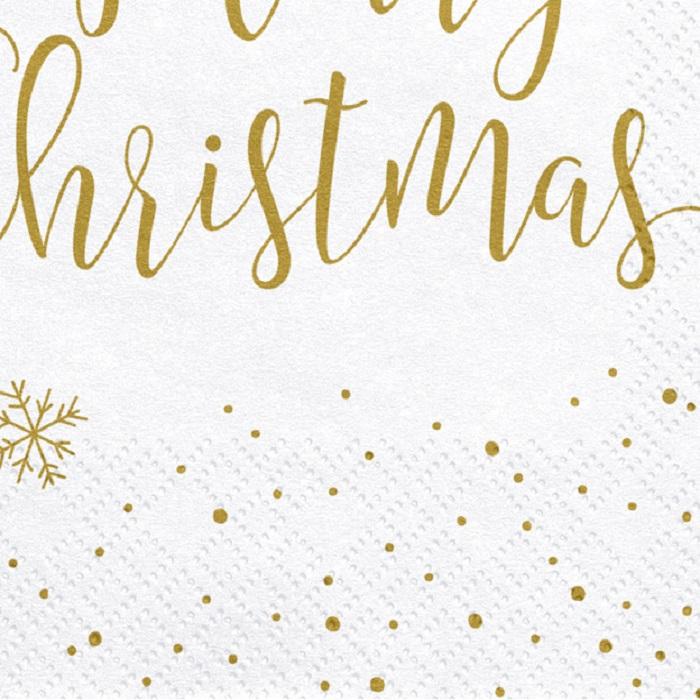 Zdjęcie w galerii - Serwetki Merry Christmas, 33x33cm