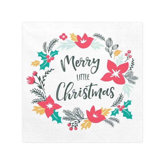 Zdjęcie w galerii - Serwetki Merry Little Christmas, 33x33cm