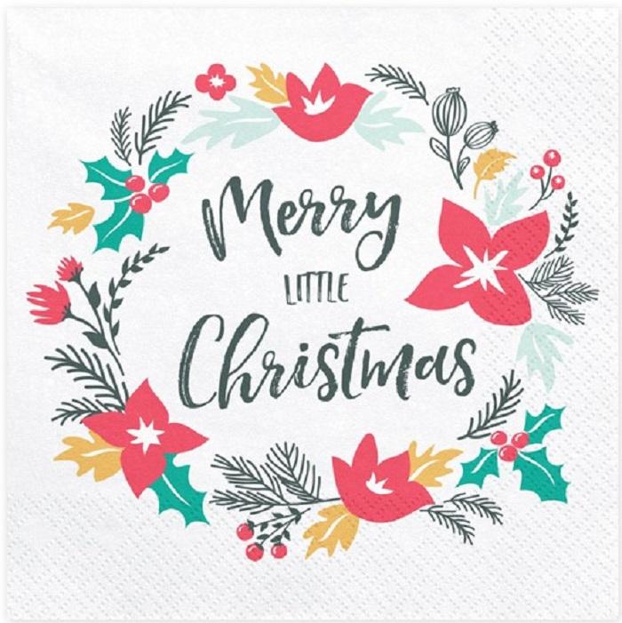 Zdjęcie slidera - Serwetki Merry Little Christmas, 33x33cm