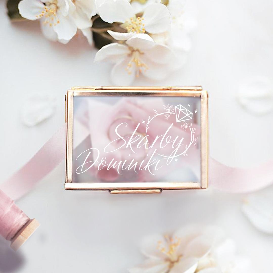 Zdjęcie w galerii - SZKATUŁKA szklana na biżuterię Brylantowy Pierścień PERSONALIZOWANA