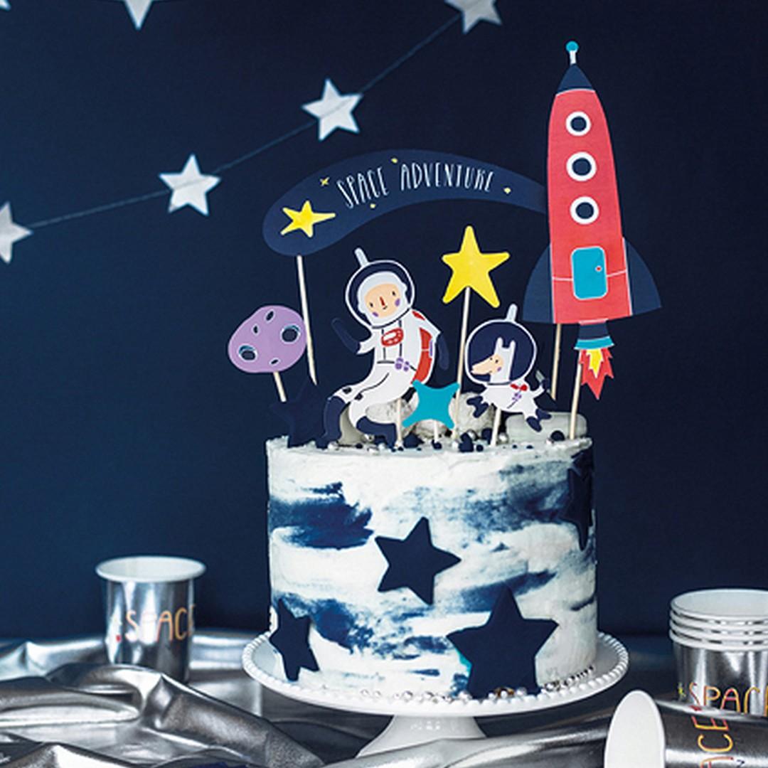 Zdjęcie slidera - TOPPERY na tort Kosmos 7szt