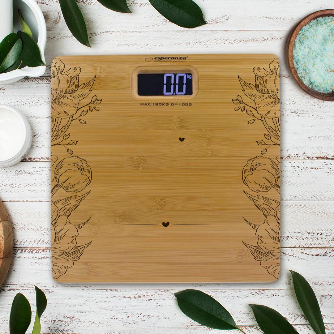 Zdjęcie slidera - WAGA łazienkowa Bambusowa Prezent dla Młodej Pary Miłość nie liczy kilogramów PRSONALIZOWANA