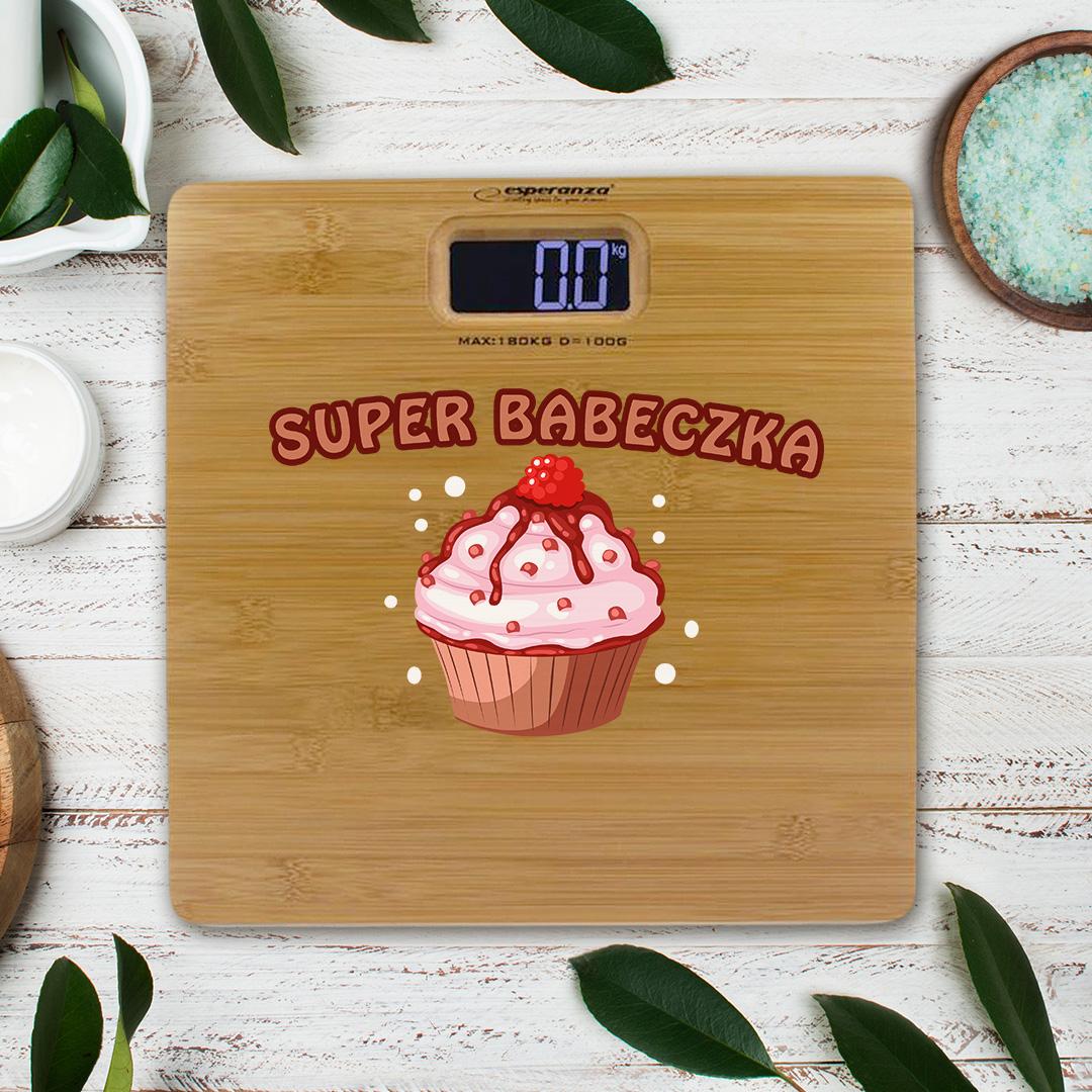 Zdjęcie slidera - WAGA łazienkowa Super Babeczka fajny pomysł na prezent PERSONALIZOWANA